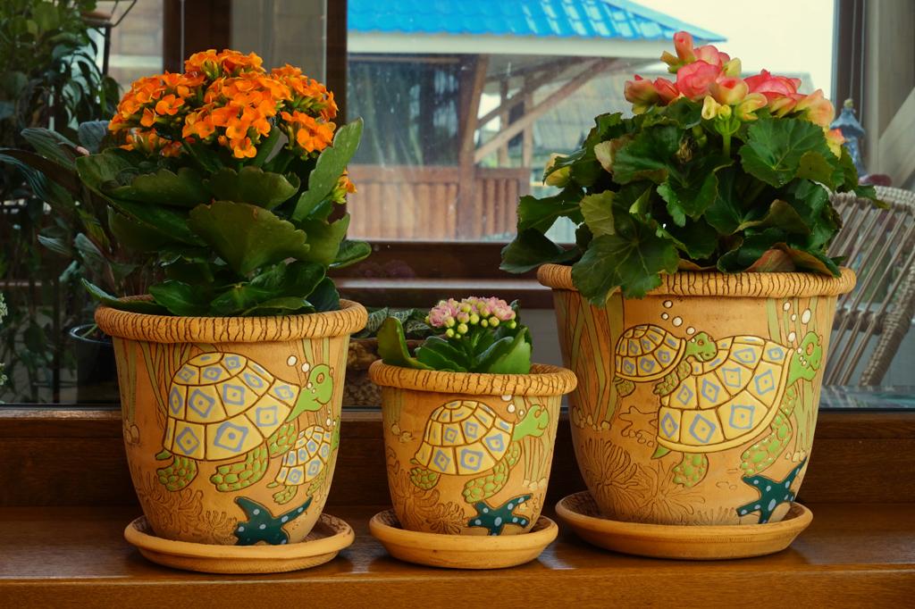 Красивые цветочные горшки фото
